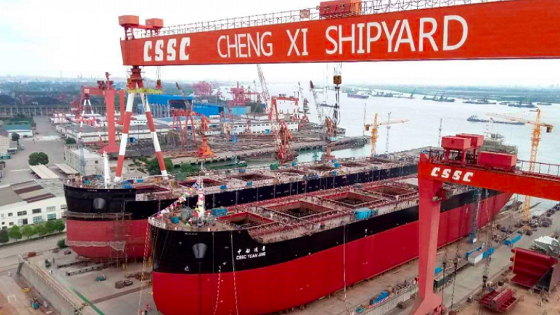 Newbuilding orders for Chinese yards fall 4.5% in first eight months of 2020